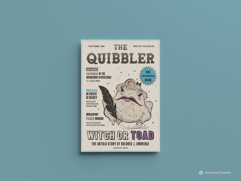 The Quibbler Magazine editorial design editorial magazine wizarding world harrypotter branding graphicdesign illustration