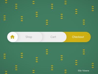 Gobelins' daily UI, day 12 patterns yellow breadcrumbs green web uxui minimal figma webdesign ux ui dailyuichallenge dailyui app