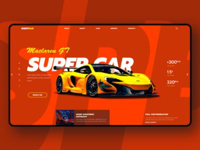 Super car landing page uxui webdesign landingpage
