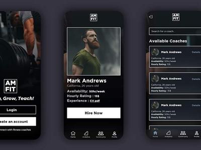 Fitness Application app design ux ui graphic design