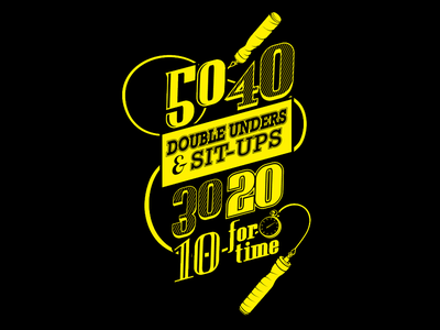 Annie Shirt black yellow jump rope crossfit t-shirt shirt sport fitness