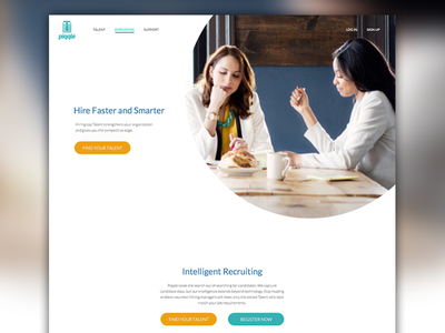 Piqqle - Employers Page preview web page recruiting circle website