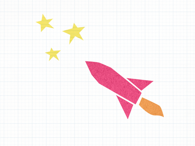 Launches with Paper launch pink stars graph paper