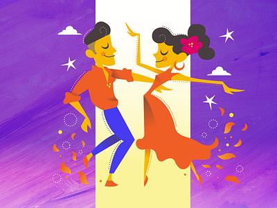 Let's Salsa 💃 spicy fire spain spanish design illustration vector dance salsa