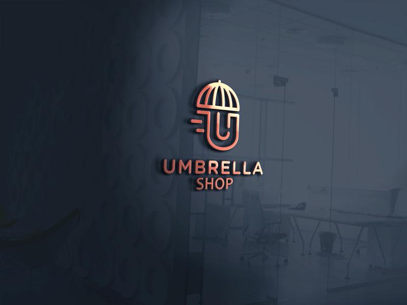 Umbrella Logo product design amazon vector minimalist logo uxui 3d logo umbrella logo umbrellas icon logo 2020 illustration flat design brand logo design business logo design modern logo