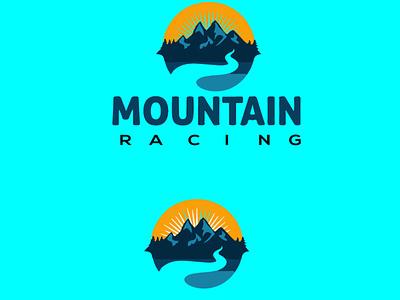 Mountain Racing  Logo Design mountain racing  logo mountain racing  logo mountain biking logotype modern logo mountain lion mountain illustration mountains mountain logo