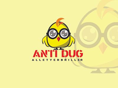 ANTIDUG app logo app kids app bird icon antidug logo logotypes brading antique bird logo