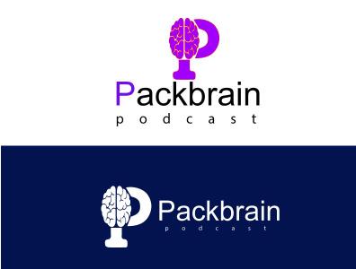 Pack Brain Podcast branding design brainstorm podcast art podcasts podcasting logodesignersclub logotypes logodesign pack brain podcast logo