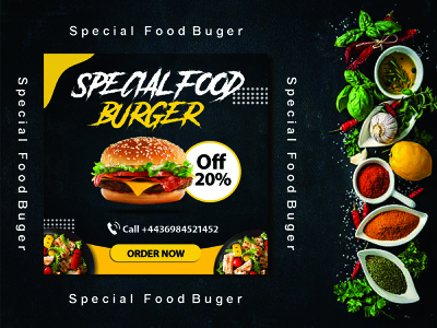 Restaurant Food menu Design instragram post design post design digital post burger menu logo flyer desugn restaurant menu food menu design menu design