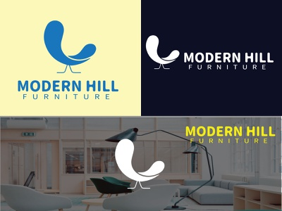 Modern Hill Furniture Logo logo ui chair logo modernhill logo branding graphic design motion graphics minimalist logo logotype modern logo furniture logo hill logo business logo