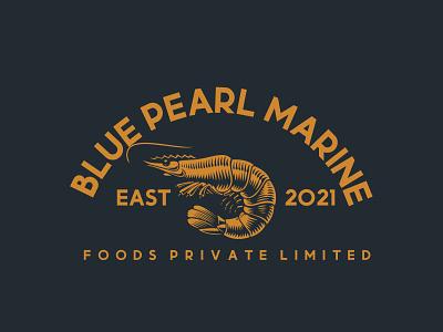 Blue Peral Logo For Company prawn logo business logo modern logo motion graphics brand branding animation blue pearl pearl logo logo design