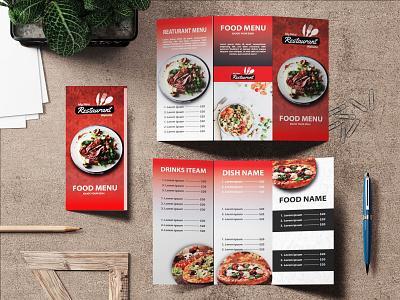 Trifold Food Menu Design branding motion graphics ui design food banner design banner deisgn graphic design restaurant menu menu design catlog design brochure design food menu design trifold design