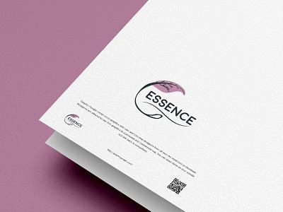 ESSENCE - LOGO CONCEPT graphic design green pink flower leaf nature vector branding minimal logo design