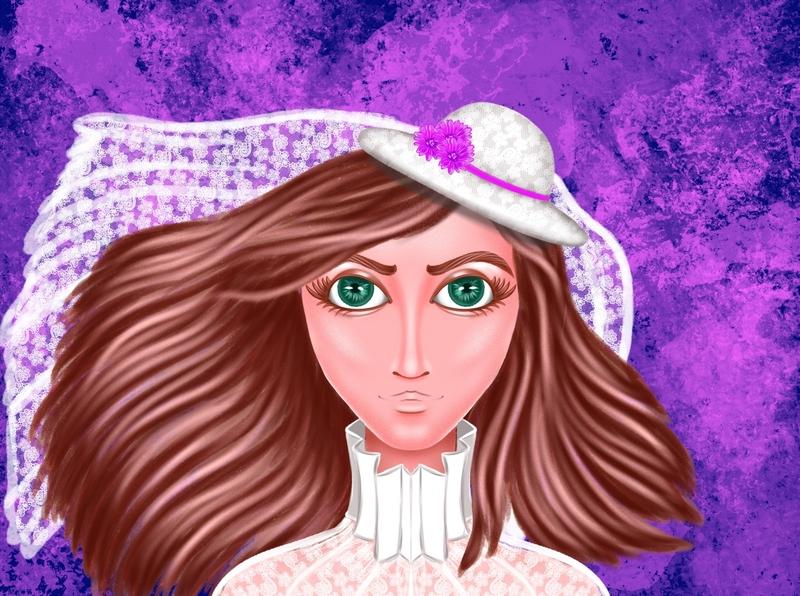 8C1D6AA4 F5D8 4A8E 8BF1 C92F82B1639A happy artist art flower bride avatar icons icon girl avatar procreate fashion design illustration