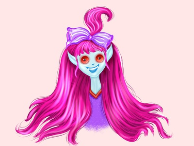 baby vampire violet vampire baby drawing artwork fashion avatar logo procreate design girl icon illustration