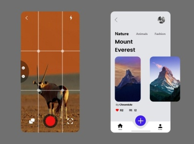 Camera app | Photo publisher clean flutter android app camera ux ui minimal design app
