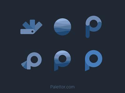 Palettor Logo Variations color palette design logo design logo web color palettor