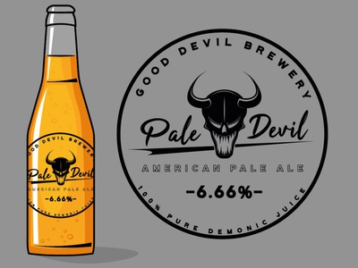Pale Devil Beer branding beer label beer art beer bottle beer pale devil devil metal logo illustration design