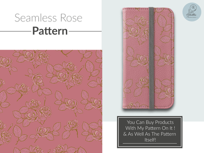 Seamless Rose Pattern vector illustration rose seamless