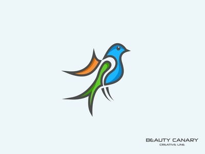 Beauty Canary Minimalist Bird Logo Design beauty canary minimalist logo minimal logo design minimal logo logo maker logo designer logo design logo concept logo design creative logo brand birdlogo