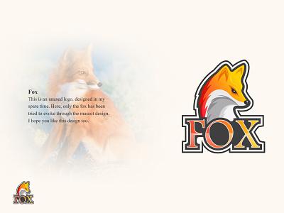 Fox Creative Mascot Logo gaming logo abstract logo logo maker logo designer logo design logo concept logo design creative logo brand sports logo fox logo mascot logo ideas mascot logo