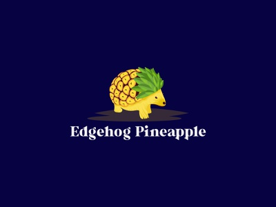Hedgehog Pineapple Creative Minimalist Logo flat logo unique logo minimal logo minimalist logo logo concept logo maker logo designer logo design logo design creative logo brand hedgehog pineapple hedgehog pineapple
