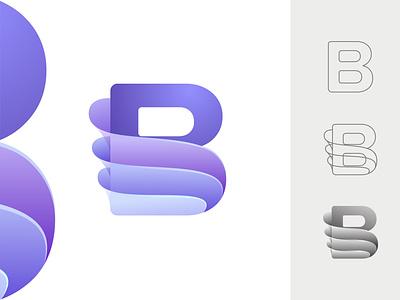 Letter B creative logo design letter b minimalist logo design unique logo logo maker logo designer creative logo logo design wave brand identity logo branding flow dynamic gradient layer clean splash glass