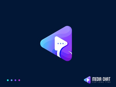 Media Chat Modern Logo Design logo designer abstract technology conversation messenger chatbot mediaplayer creativity modern logo design identity design branding brand media chat