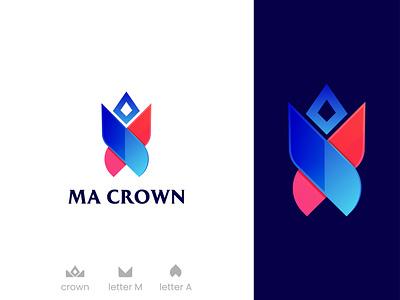 MA Crown, Modern logo, Creative logo app logo 2020 2021 top typography ma letter letter logo meaningful colorful logo logo identity logo maker brand logo design logo designer logo design folding logo creative logo modern logo crown logo ma crown