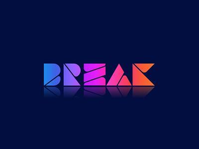 Break Modern Logo Design trendy logo best logo business logo colorful logo minimal logo 3d branding illustration logo designer logo design gradient logo elegant logo flat illustration modern logo break modern logo break