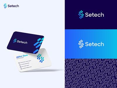 Setech logo, technology logo, modern s logo brand identity logo branding branding creative logo design logo designer abstract modern logo icon symbol app logo letter s technology tech logo setech