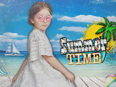 Cover design girl summer design cover