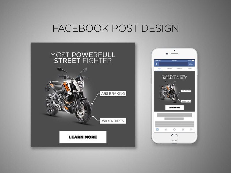 Minimalist Social Media Post 9 kinetic photoshop instagram post typography flat facebook ad design banner ads branding