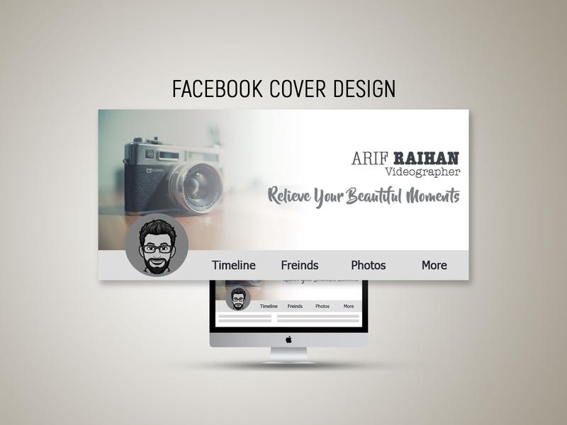 Facebook Cover Photo 1 illustration photoshop flat typography facebook ad design banner ads branding