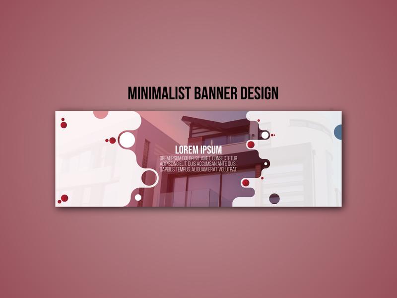 MInimalist Banner Design 1 illustrator illustration photoshop instagram post flat typography design facebook ad branding banner ads