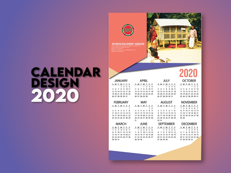 Calendar Design flat photoshop illustrator calendar design branding