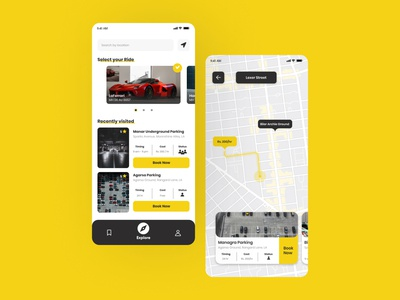 Parking App UI uidaily parking parking app minimalism minimal uidesigner ui design uiux ui