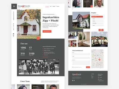 Home page for the engineering office engineer office engineering webdesign uiux homepage website landingpage web design ux ui