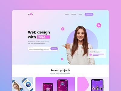 Landing page - portfolio desktop webdesigner designer uiux webdesign homepage website landingpage web design ux ui