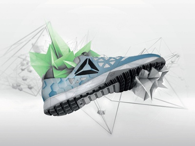Retouch of Reebok Nano7 design art direction advertising retouch