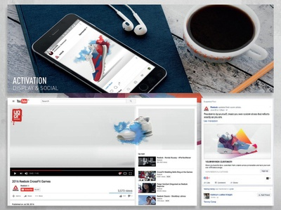 YouTube header takeover and socail banner display retouch retouching youtube social