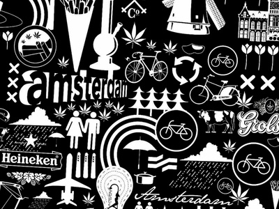 Amsterdam Iconography flat vector icon design icon set iconography amsterdam
