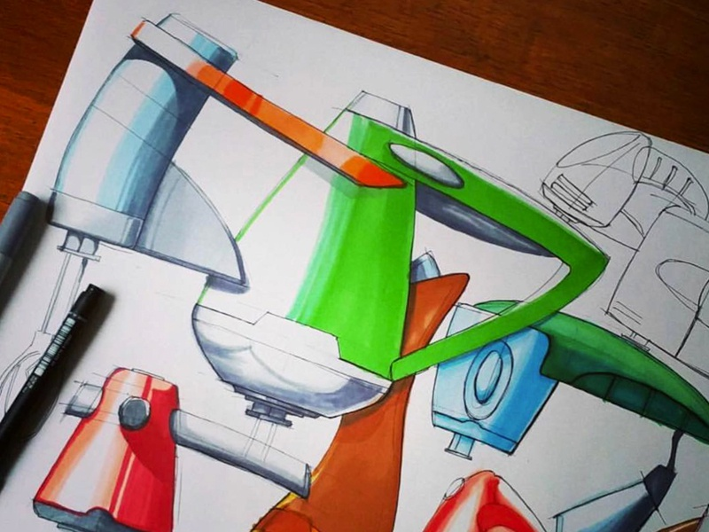 Pen & marker practice sketches mixers by PYZA on Dribbble