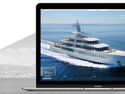 Yacht presentation digital artdirection interactiondesign website webdesign