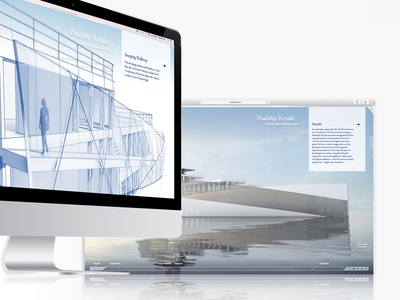 Concept yachts page flat clean responsive interactiondesign website digital artdirection