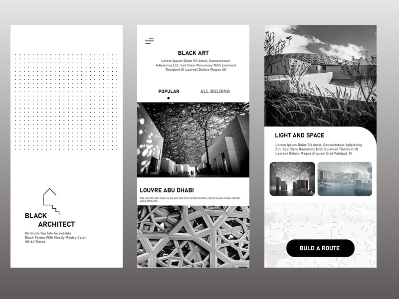 Black Architect web vector ux ui logo illustration app icon design branding