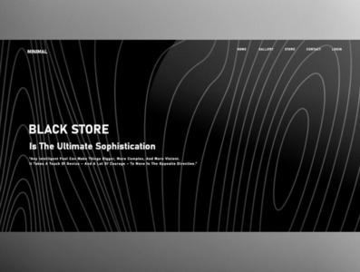 Black Store illustrator web vector ux ui logo illustration icon design branding app