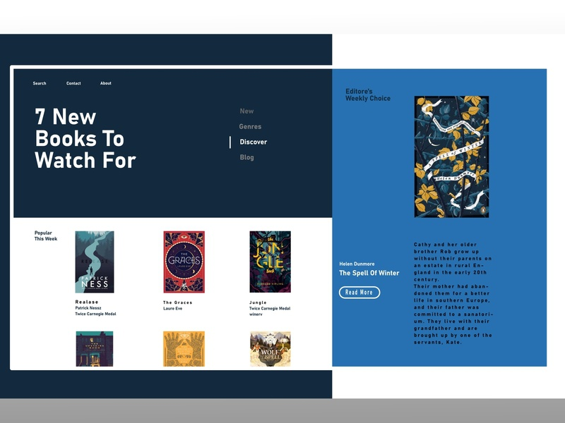 Book Store / Main website design website reading app reading book icon illustrator vector app web ui ux illustration design branding