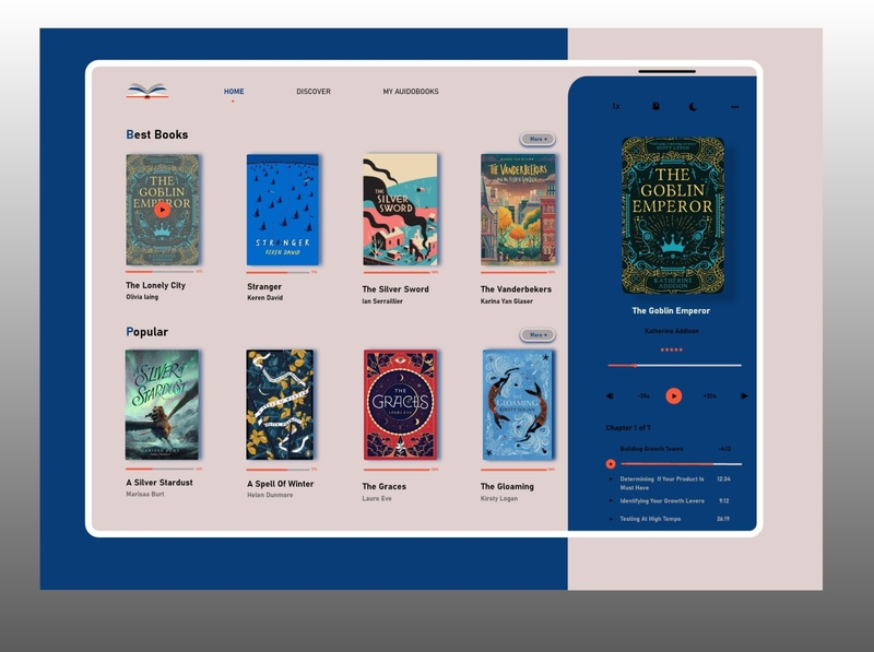 Reading Books ipad digital reading app read vector app illustrator book web ux ui illustration design branding