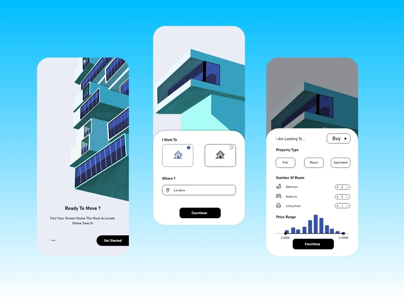 Seach Your Home ui  ux homepage blue architecture architect apple illustrations illustraion home screen home page house home illustrator design branding web app ui ux illustration